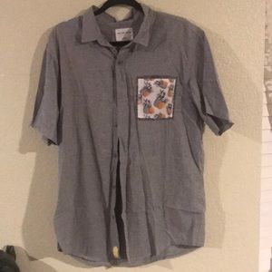 On the byas short sleeve collared pineapple shirt